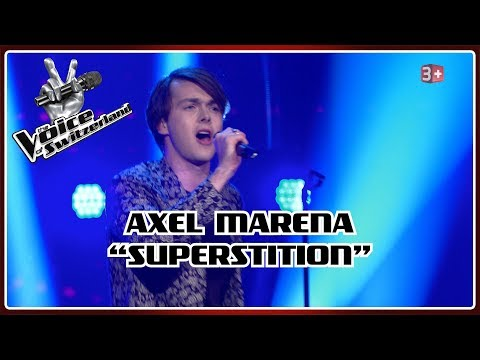 Axel Marena - Superstition   Blind Auditions   The Voice of Switzerland