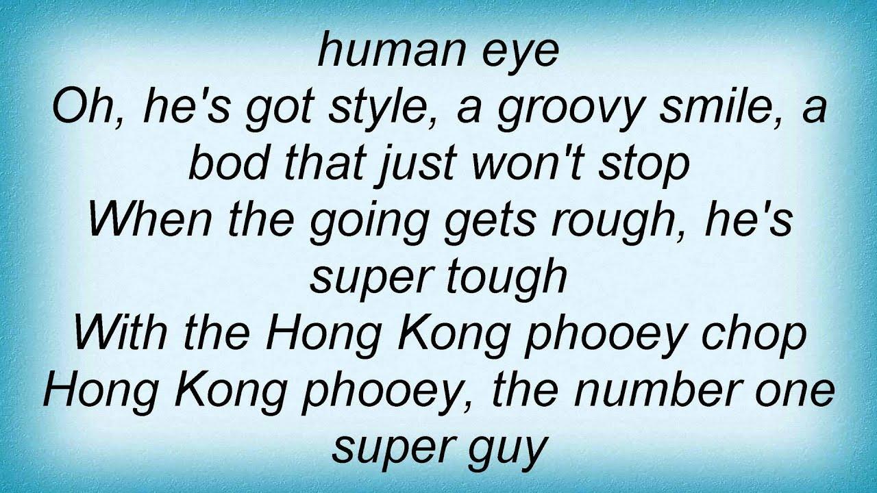 Hong Kong Phooey Lyrics - Theme Song Lyrics