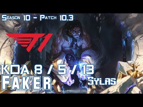 T1 Faker SYLAS Vs TWISTED FATE Mid - Patch 10.3 KR Ranked