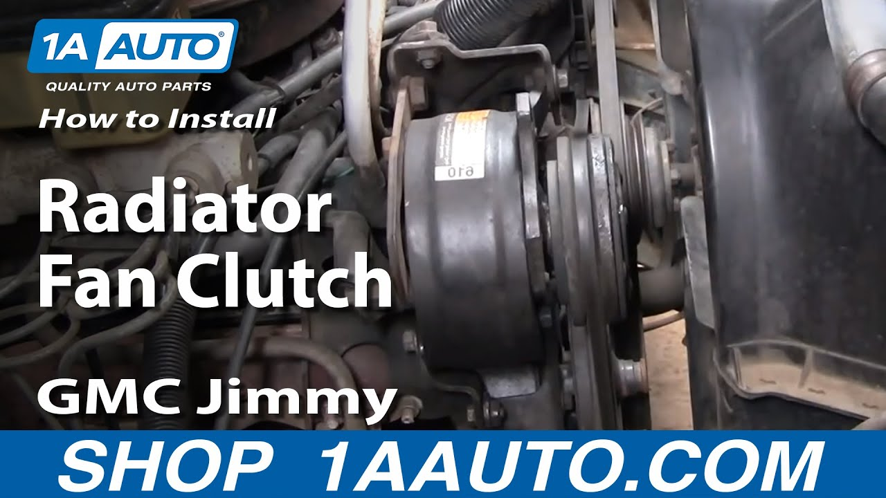 how to replace radiator fan clutch 73 91 gmc jimmy [ 1280 x 720 Pixel ]