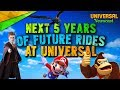 Next 5 Years of Future Universal Rides - Universal Studios News 12/06/2017