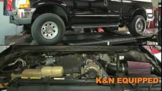 K&N intake for 1999-2003 Ford F-250, F-350, Excursion 7.3L V8 diesel.  Simple power from K&N.