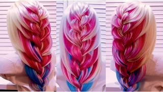 Широкая коса  Braided hairstyle