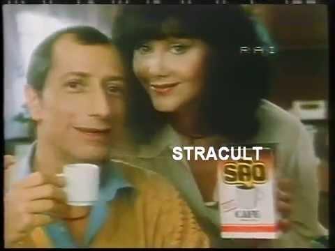 Pippo Franco e Laura Troschel, spot Sao Cafè anni