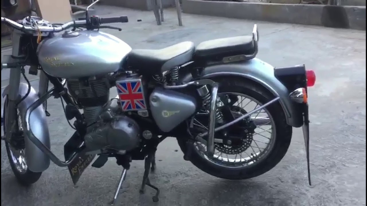 Royal Enfield Classic rear disc brake how to assemble