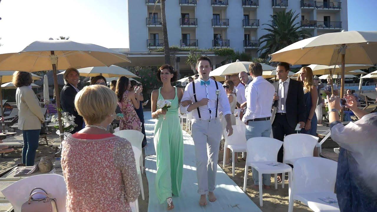 Matrimonio Spiaggia Savona : Matrimonio in spiaggia mare hotel savona youtube