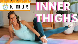 10 Minute Challenging Inner Thighs Workout   No Equipment