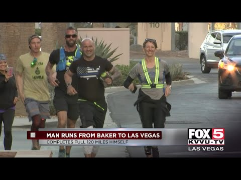 Man runs from Baker to Las Vegas