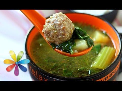 Густой суп с кабачками и фрикадельками Первые блюда