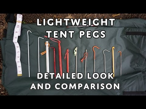LightWeight & Ultralight Tent Pegs - Aluminium, Titanium, Carbon Core - Detailed Look