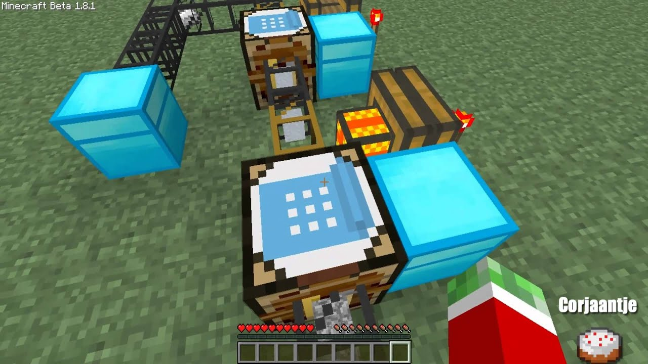 how to make an iron generator in minecraft