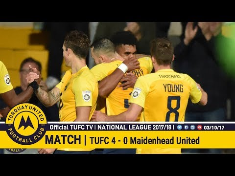 Official TUFC TV | Torquay United 4 - 0  Maidenhead United 03/10/17