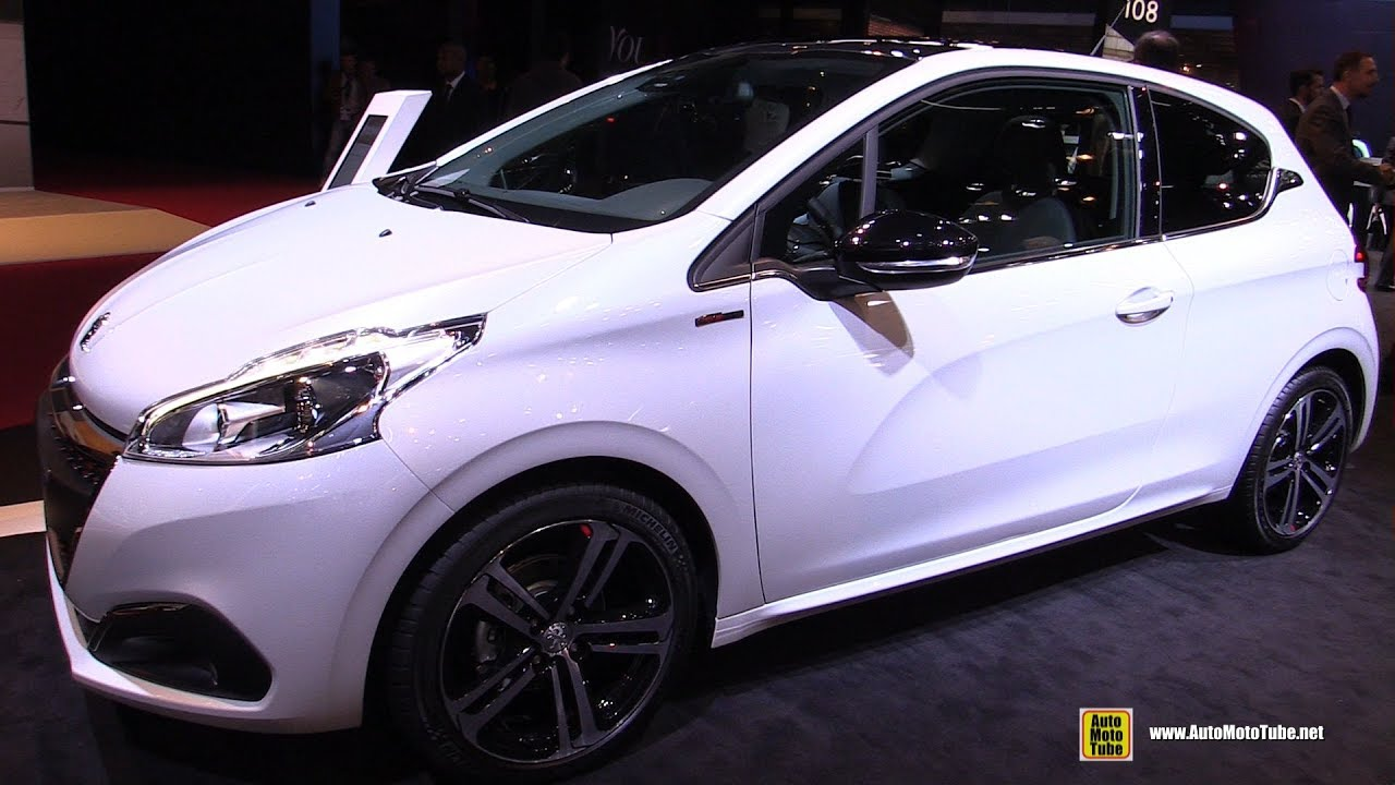 2017 peugeot 208 gt line 1 6 diesel exterior and interior walkaround 2016 paris motor show. Black Bedroom Furniture Sets. Home Design Ideas