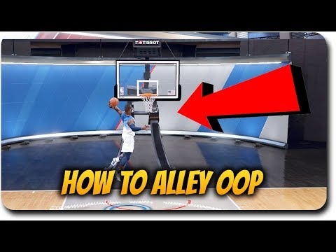 """HOW TO ALLEY OOP DUNK in NBA Live 18 Tutorial Gameplay """"THROW  AN ALLEY OOP OFF THE BACKBOARD"""""""