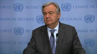 UN chief on CAR, Iran, D.P.R.Korea, Syria, Lebanon and other matters - Media Stakeout
