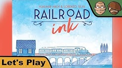 Railroad Ink: Deep Blue Edition - Brettspiel - Let's Play