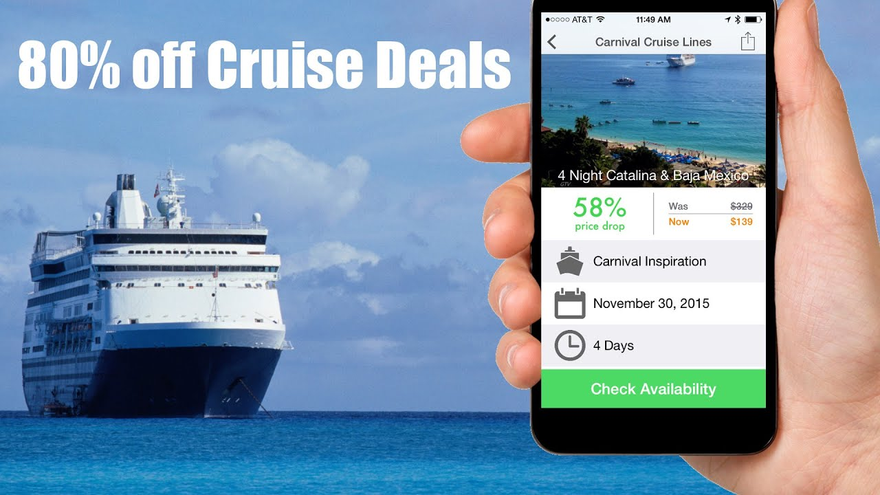 Cruise Price Tracking Alert Demo Cruise Deals App For IOS YouTube - Cruise deals 2015