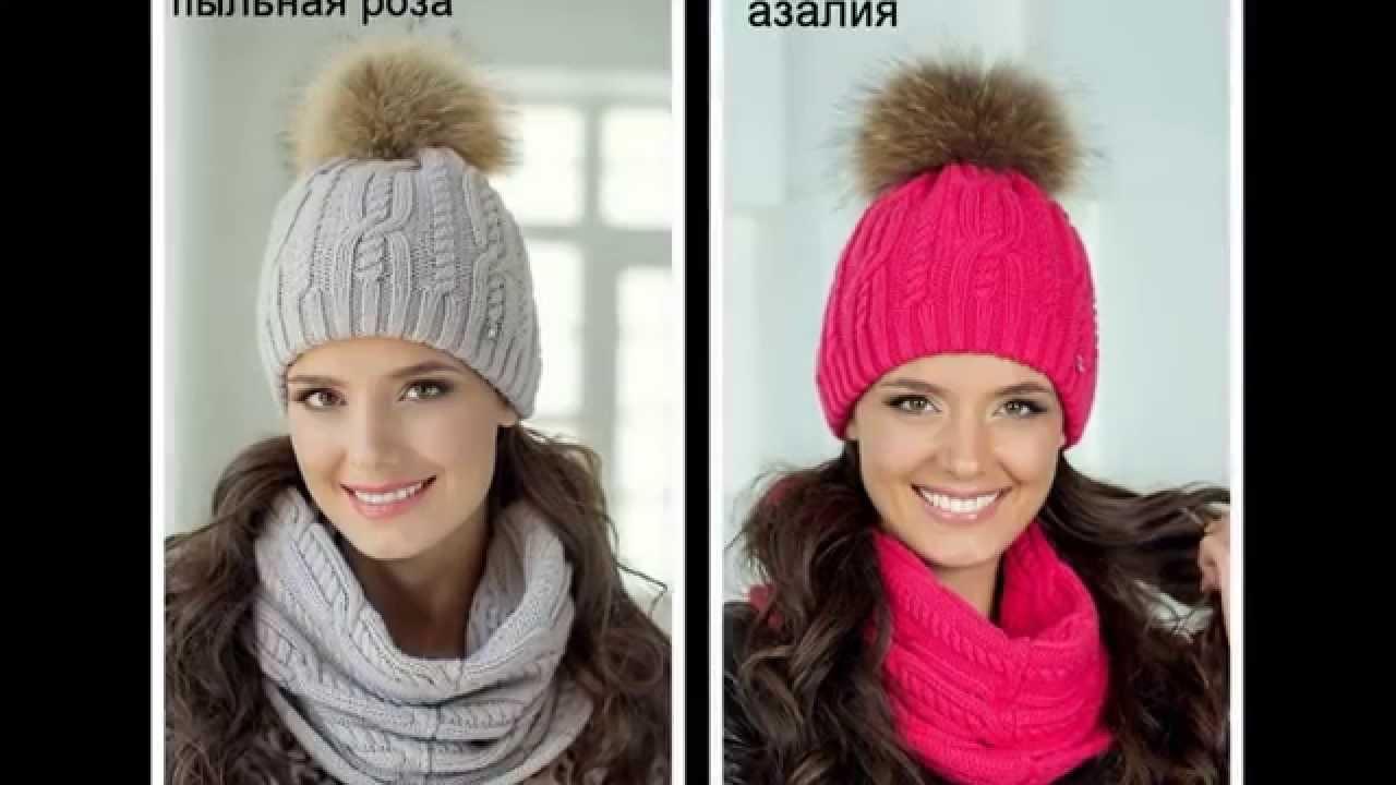 вязаные осенние зимние шапки Youtube