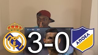 Real Madrid VS Apoel 3-0 All Goals: Reaction
