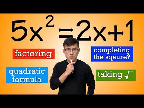 Ways To Solve Quadratic Equations