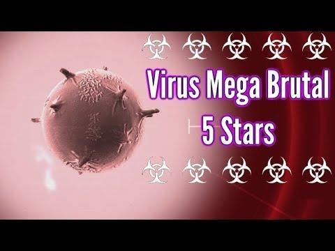 Plague inc Evolved| Virus (High Mutation Tactic!) - Mega Brutal 5 Stars! (Guide?)