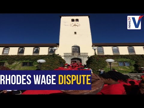 WATCH: NEHAWU union members protest over wage dispute