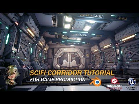 Sci-Fi Corridor Tutorial For Game Production