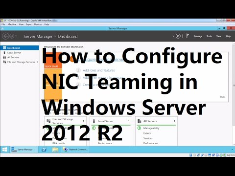 How To Configure NIC Teaming In Windows Server 2012 R2
