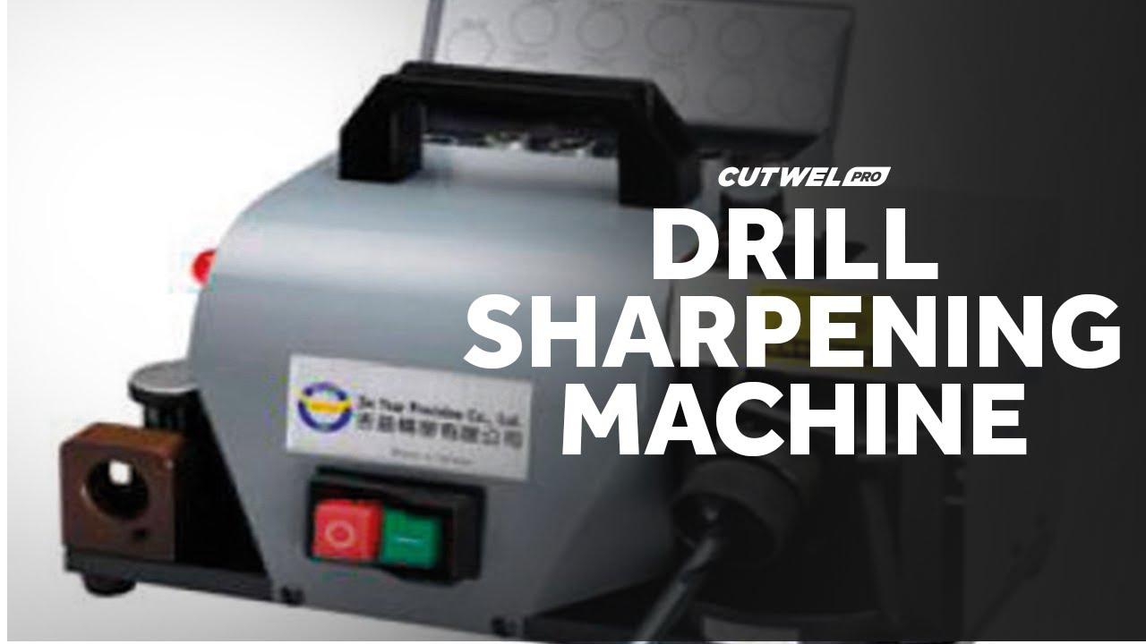 Drill Sharpening Machine - Cutwel TV - YouTube