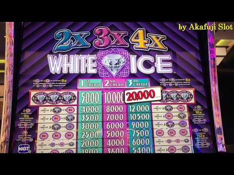 "BIG WIN 777💛2x3x4 ""WHITE ICE"" $1 Slot Machine MaxBet $3 on Free Play (Old School Slot) Akafujislot"