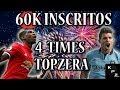 ESPECIAL 60K INSCRITOS🔴QUATRO TIMES TOPZERA [200K a 5 MILHÕES] PREMIER LEAGUE FIFA 19