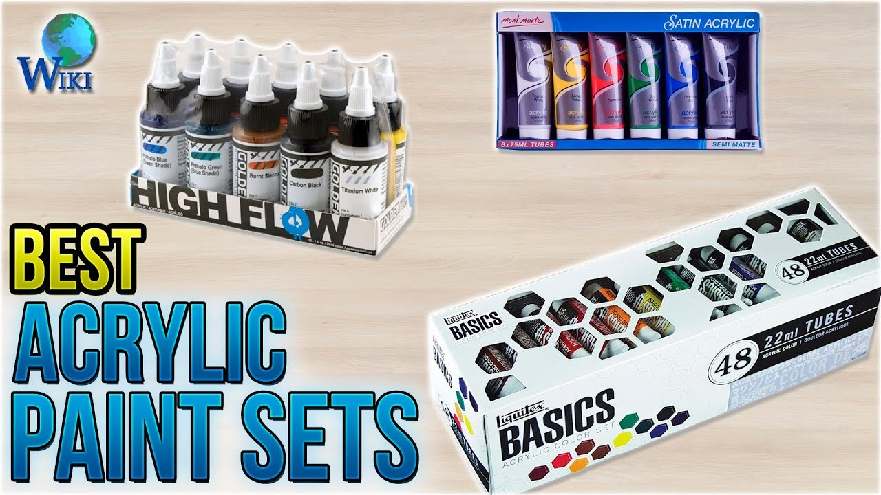 10 Best Acrylic Paint Sets 2018 Youtube