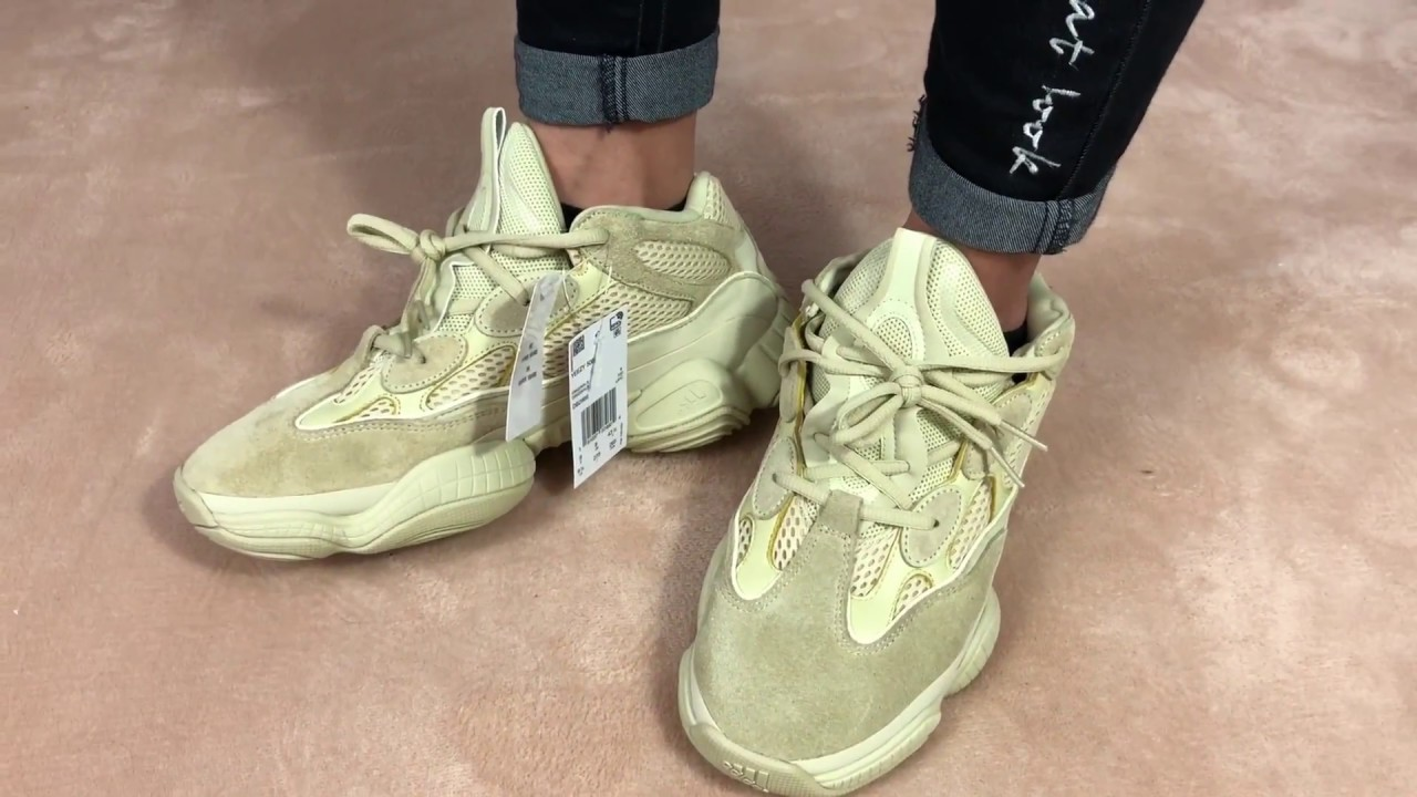 34b30ea9f7d Adidas Yeezy 500 Super Moon Yellow authentic review +on feet by  lordkicks roy
