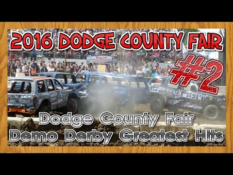Demolition Derby Greatest Hits   Crash and Smash from the 2016 Dodge County Fair