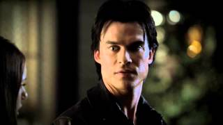 Damon and Elena kiss 3x10 Porch scene HD-HQ