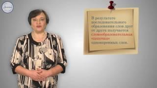 Уроки русского Образования слов в русском языке