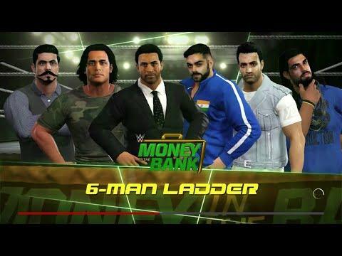 WWE 2K17 Money in The Bank  Sachin VS Kohli VS Dhoni VS Gambhir VS Jadeja VS I Sharma