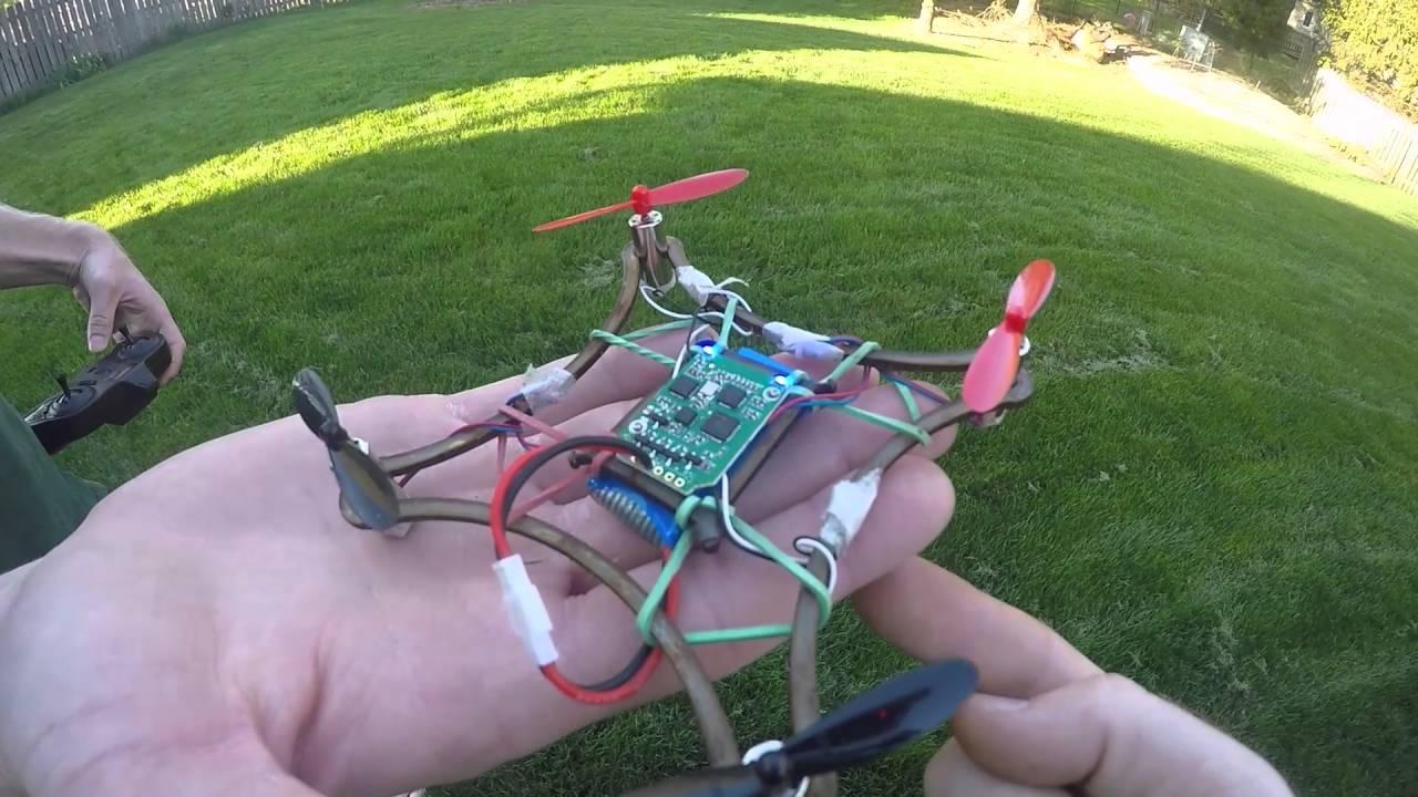 Quadcopter Custom Frame Design - YouTube