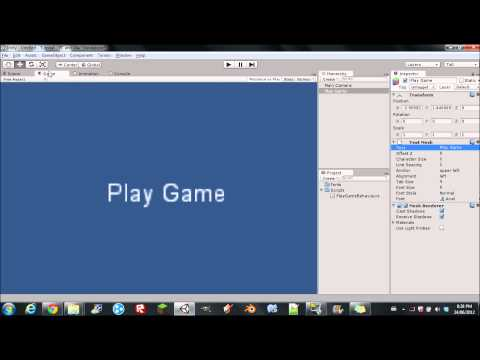 unity3d how to change scrollbar script