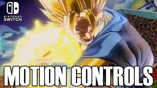 TRYING OUT THE MOTION CONTROLS! Dragon Ball Xenoverse 2 for Nintendo Switch Motion Controls Gameplay