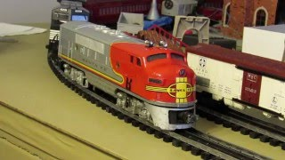 Lionel Postwar #2353 has a try at the heavy consist!!!-Can 1 #2353 pull all these cars?