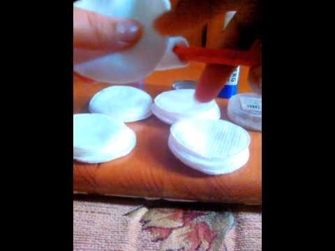 Ёлочка из ватных дисков своими руками Мастер класс с