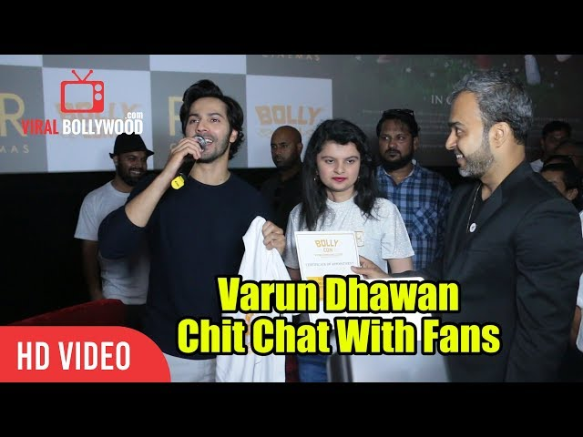 Varun Dhawan Chit Chat With Fans At Juhu PVR | October Movie Morning Show