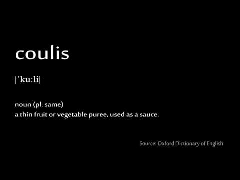 How to pronounce - coulis