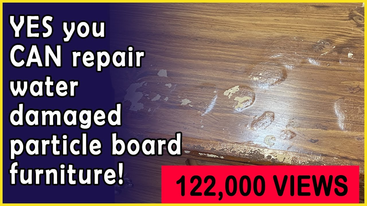How to Repair & Restore Water Damaged Bubbles in Particle Board Furniture  in 20 Simple Steps