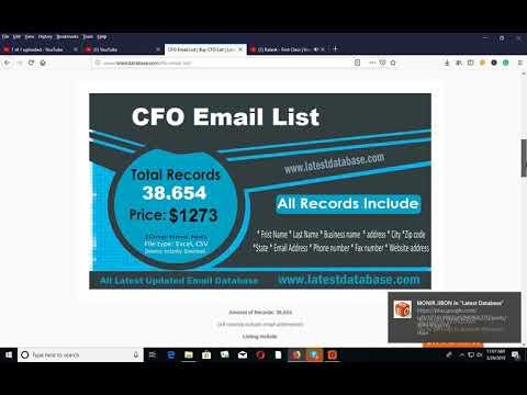 Buy CFO EMAIL LIST - YouTube