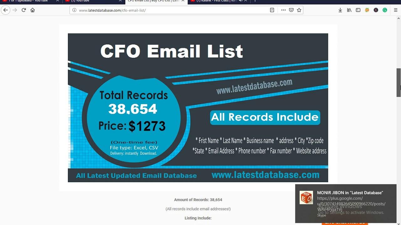 Buy CFO EMAIL LIST