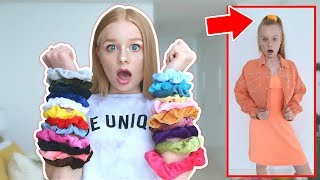colored scrunchies pick my outfits for a week!