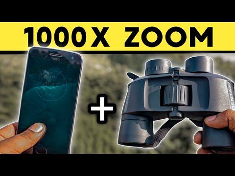 Smartphone + Binoculars = 1000X Zoom ! खुरापाती Experiment 🤣🤣