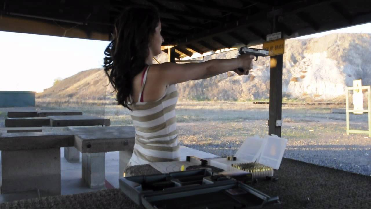 Haley S Target Practice With 9mm Ruger P89